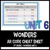 Wonders AR Cheat Sheet: Unit 6