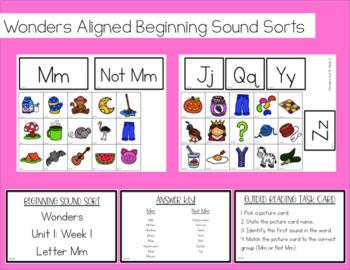 Wonders Aligned Beginning Sound Sorts