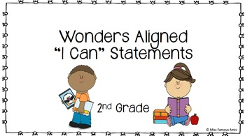 Wonders Aligned Literacy I Can Statements
