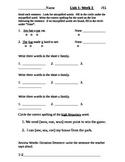 Wonders Alternate Spelling Test Unit 1-2