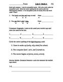 Wonders Alternate Spelling Test Unit 2-4