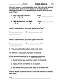 Wonders Alternate Spelling Test Unit 4-5
