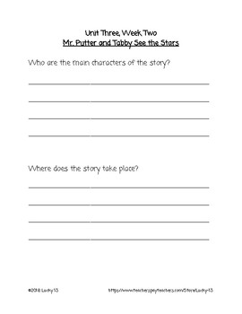 Wonders Anthology Text Dependent Questions, Grade 2 Unit 3