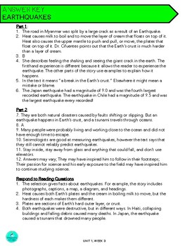 Wonders Anthology Worksheets - GRADE 4, UNIT 1