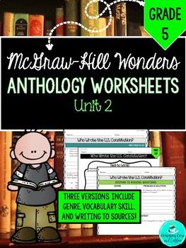 Wonders Anthology Worksheets! - GRADE 5, UNIT 2
