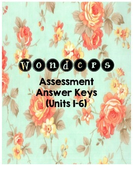 Wonders Assessment Answer Key Binder Cover