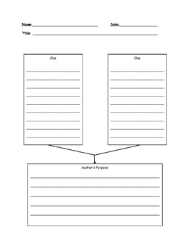 Wonders Author's Purpose Graphic Organizer