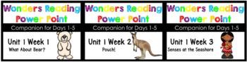 Wonders BUNDLE Unit 1 Weeks 1-3 Power Points Kindergaeten
