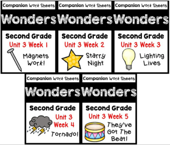 Wonders BUNDLE Unit 3 Weeks 1-5 Worksheets/Centers. Second Grade