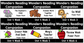 Wonders BUNDLE Unit 4 Weeks 1-6 Power Points First Grade