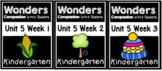Wonders BUNDLE Unit 5 Weeks 1-3 Worksheets/Centers Kindergarten