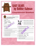 """Wonders """"Baby Bears"""" Aligned Reading Comprehension Questio"""
