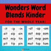 Wonders Blending Words Kindergarten