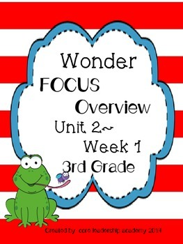 Wonders CCSS-Focus Overview ~Unit 2 Week 1 -grade 3