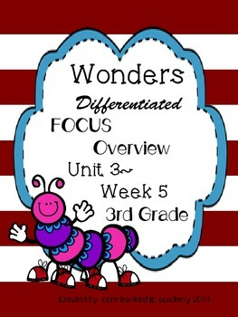 Wonders  Differentiated CCSS-Focus Overview ~Unit 3 Week 5 -grade 3
