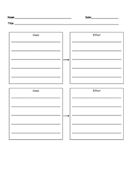 Wonders Cause and Effect Graphic Organizer