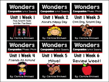 Wonders Centers Bundle Weeks 1-6. First Grade.