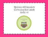 Wonders Curriculum Storage Box Labels