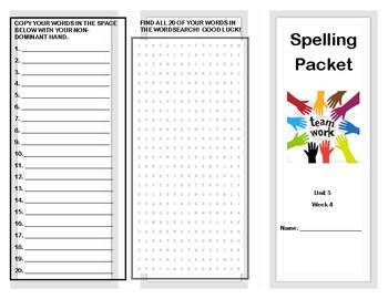 Wonders Curriculum Unit 3 Week 4 Spelling
