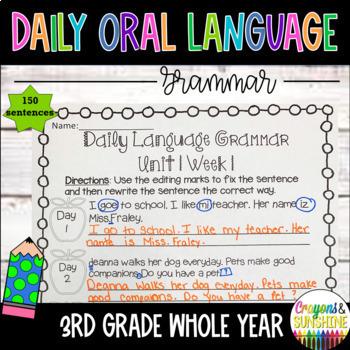 Wonders Daily Oral Language 3rd grade BUNDLE PACK UNITS 1-6