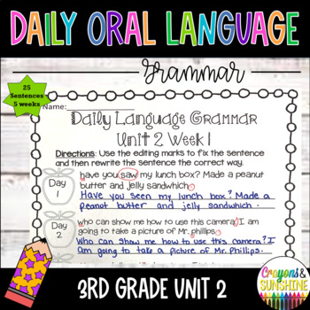 Wonders Daily Oral Language 3rd grade Unit 2