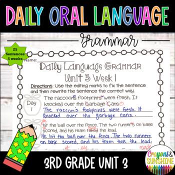 Wonders Daily Oral Language 3rd grade Unit 3