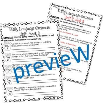 Wonders Daily Oral Language 4th grade BUNDLE Unit 1-6
