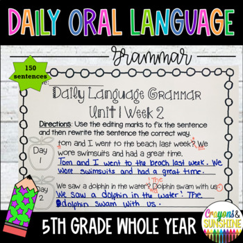 Wonders Daily Oral Language 5th grade BUNDLE PACK UNITS 1-6