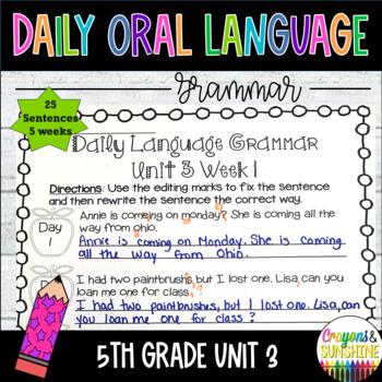 Wonders Daily Oral Language 5th grade Unit 3