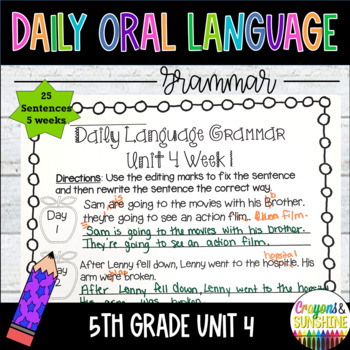 Wonders Daily Oral Language 5th grade Unit 4