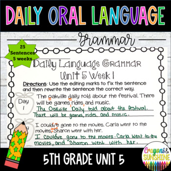 Wonders Daily Oral Language 5th grade Unit 5