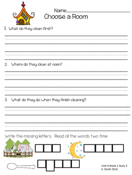 Wonders Decodable Comprehension Pages 1st Grade! **Unit 6**