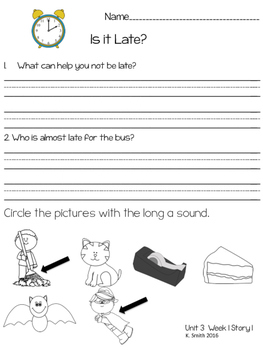 Wonders Decodable Comprehension Pages 1st Grade! **Unit 3**