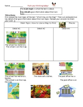 Wonders Differentiated Main Idea Activity