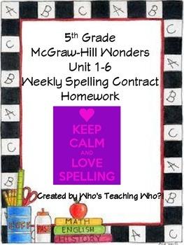 Wonders Differentiated Spelling Menu FULL SET Units 1-6