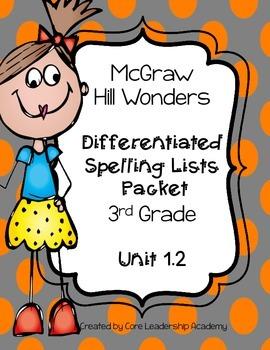 Wonders  Differentiated Spelling Word List~ Unit 1 Week 2