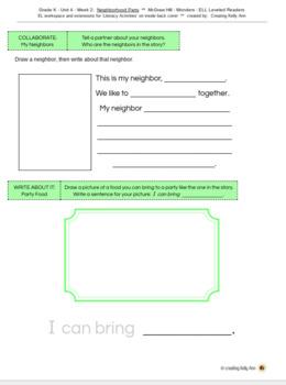 Wonders ELL Leveled Readers-LiteracyActivities Workpages-Kindergarten-Full 30wks