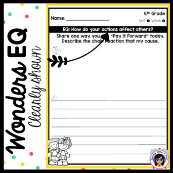 Wonders EQ Writing Prompts for Third Grade - Unit 4