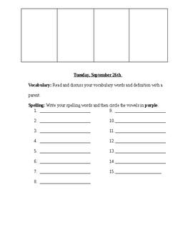 Wonders Editable Homework Unit 1 Week 2
