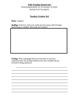 Wonders Editable Homework Unit 1 Week 3