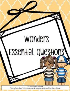 Wonders Weekly Essential Questions 1st Grade