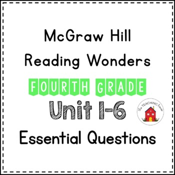 Wonders Essential Questions Fourth Grade