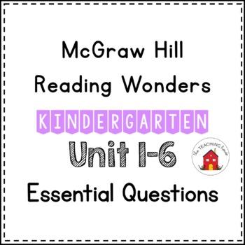 Wonders Essential Questions Kindergarten