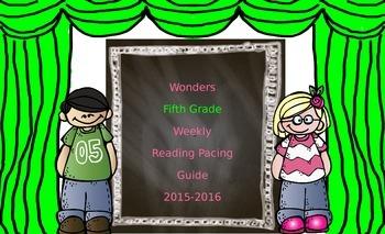 Wonders Fifth Grade Reading Pacing Guide