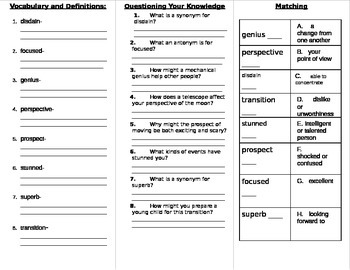 Wonders Fifth Grade Unit 5 Vocabulary Study