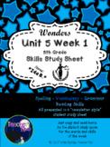 Wonders Fifth Grade: Unit 5 Week 1 Study Guide : Ida B.