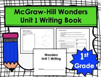 Wonders First Grade Unit 1 Writing Book