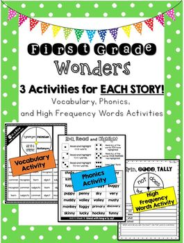 Wonders First Grade Bundle: 3 Activities for Each Story
