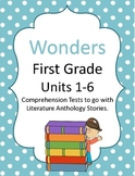 Wonders First Grade Comprehension Test Bundle