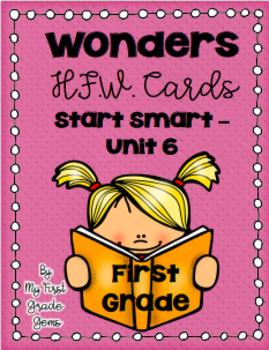 Wonders First Grade Word Wall Cards - Start Smart-Unit 6